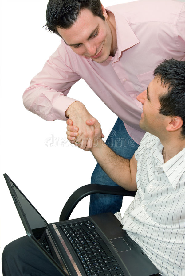 hands bärbar datormän som upprör två royaltyfria foton