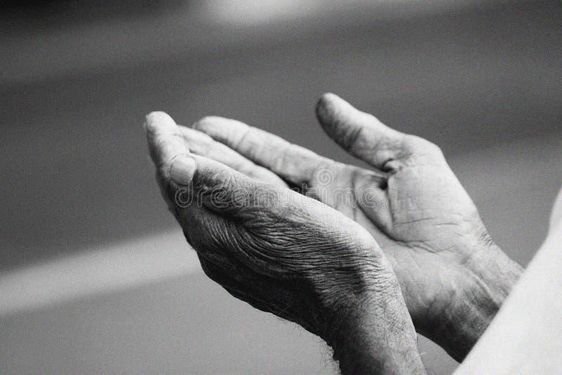 hands bönen arkivfoto