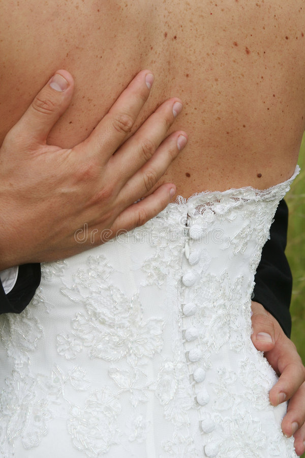 Download Hands on back stock photo. Image of wedding, buttons, embroidery - 116364