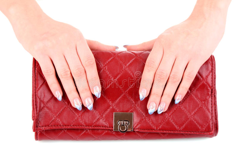 Hands with bag isolated stock images