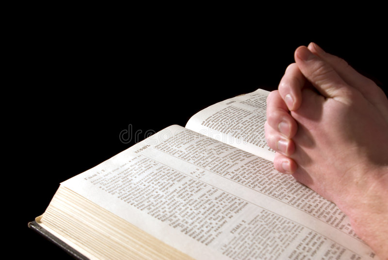 Hands On  Bible Royalty Free Stock Images