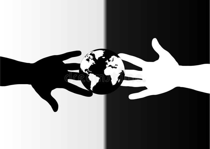 Hands black and white royalty free stock photo