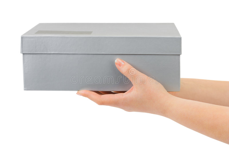 Download Hands with box stock image. Image of human, container - 8501469