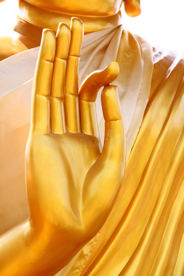 Hands of the buddha royalty free stock photography