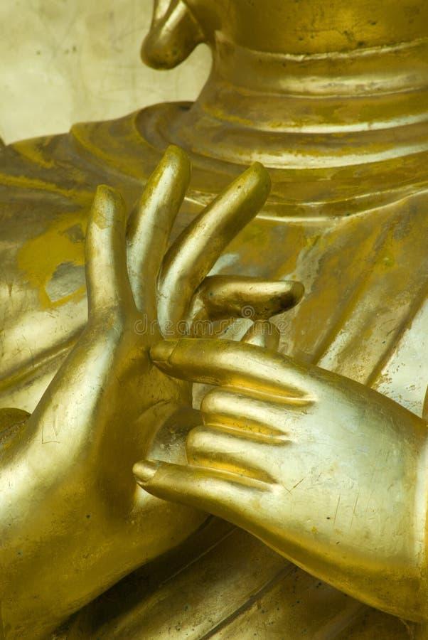 Hands of buddha stock photography