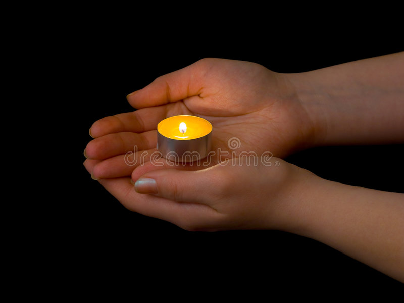 Download Hands And Burning Candle Stock Photography - Image: 8514192