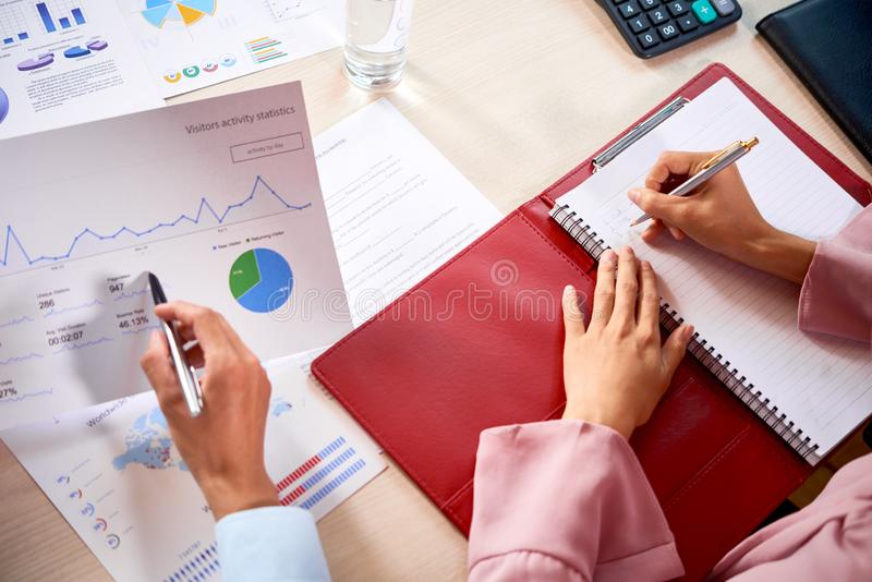 Business people working with papers royalty free stock image