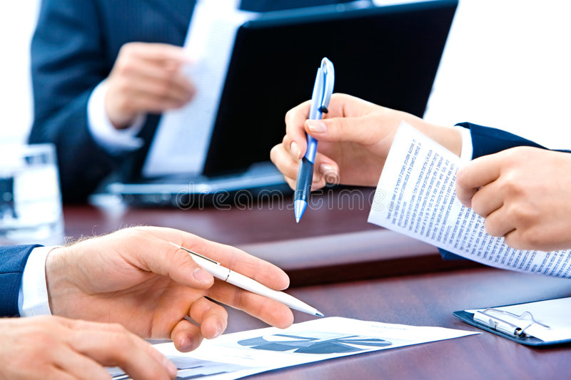 Hands of business people royalty free stock photos