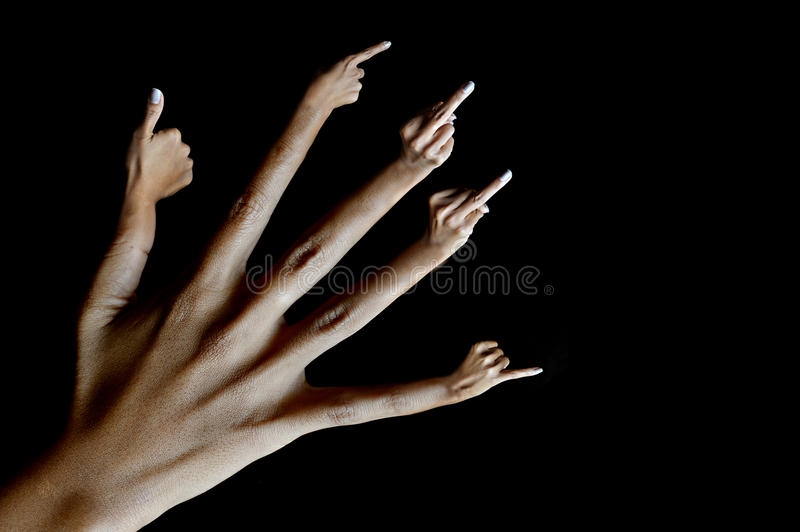 Hands busy. stock image