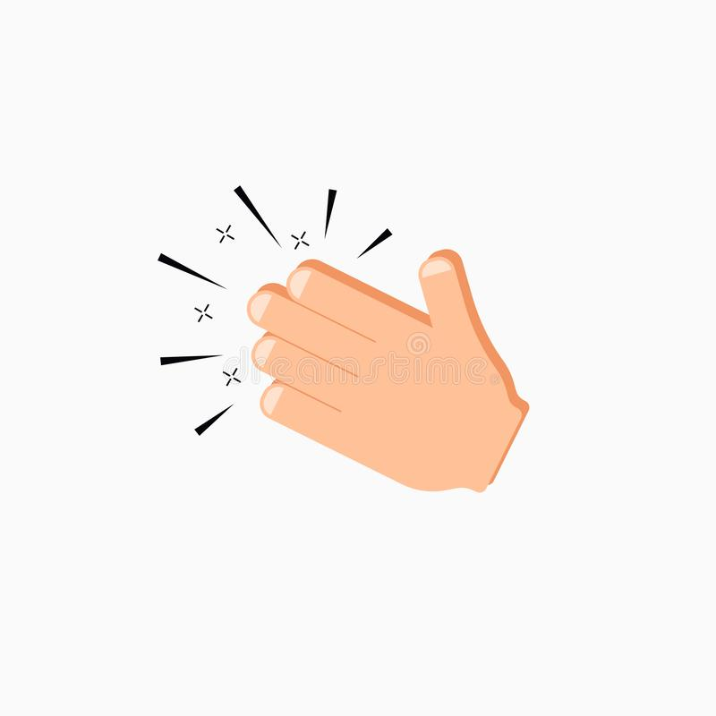 Hands clap icon. Applause emoji flat logo stock illustration