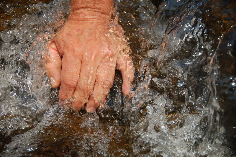 Download Hands In Clean Running Water Of Stream Stock Image - Image: 25547007