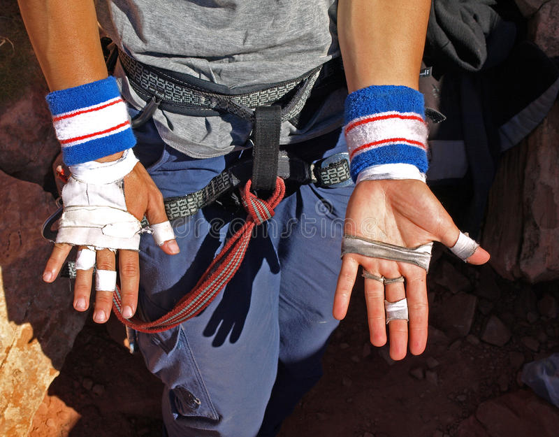Download Hands of a climber stock image. Image of hard, climbing - 22676521