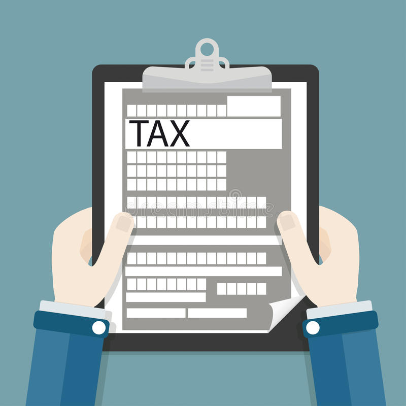 Hands Clipboard Tax royalty free illustration