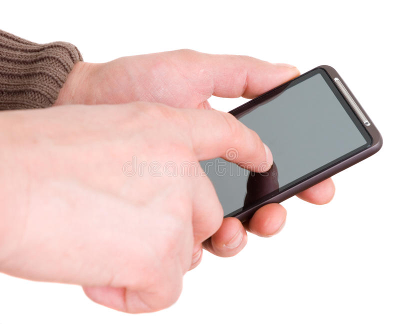 Download Hands with communicator stock image. Image of smart, receiver - 18968841