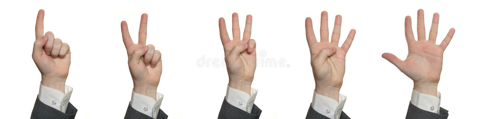 Download Hands, counting 1 to 5 stock image. Image of concepts - 4589249