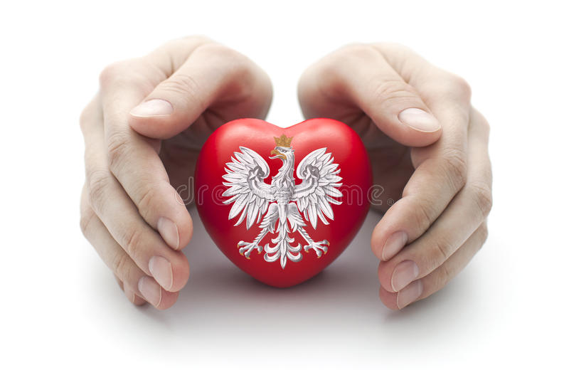 Download Hands Covering Polish Coat Of Arms Stock Image - Image: 32754505