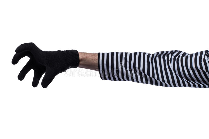 The hands of criminals. royalty free stock image