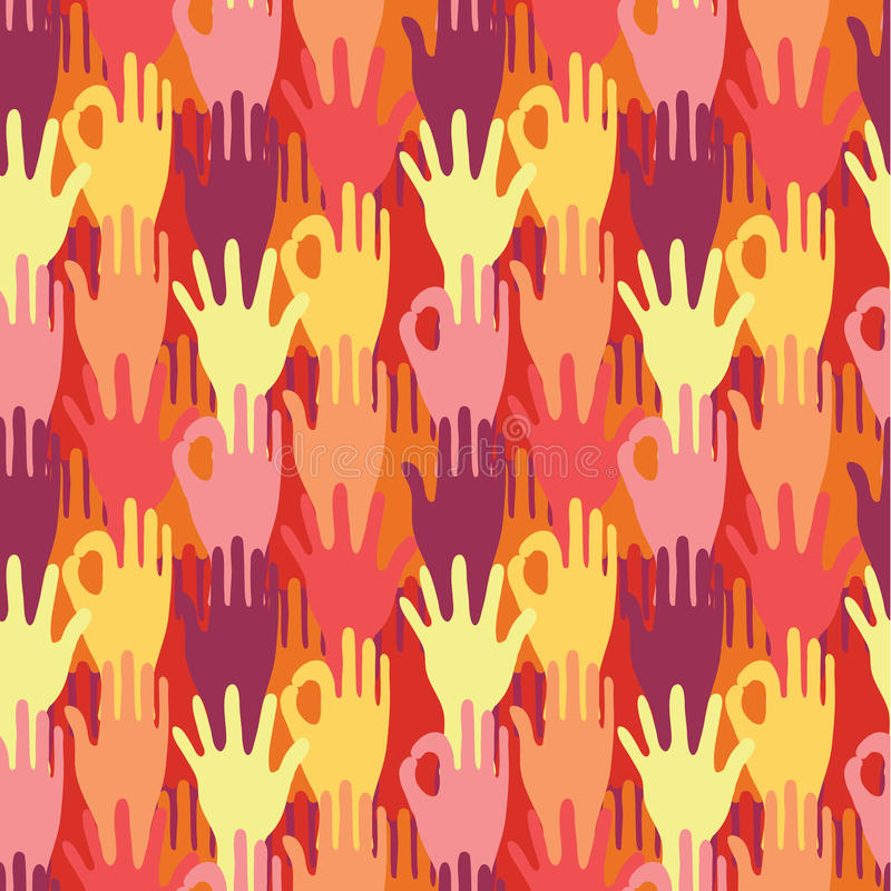 Download Hands In The Crowd Seamless Pattern Background Stock Vector - Image: 32495245