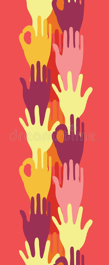 Download Hands In The Crowd Vertical Seamless Pattern Stock Image - Image: 32495251