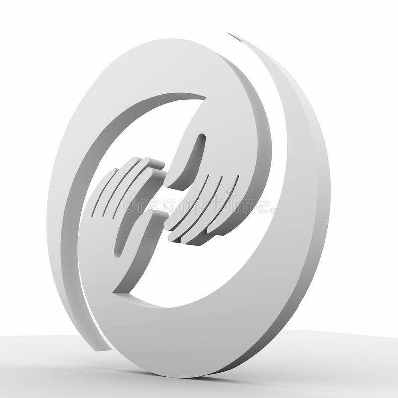 Hands 3D circle together vector illustration