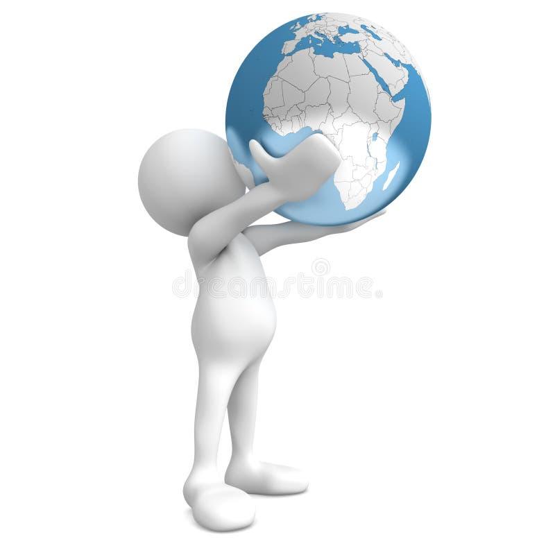 hands den din världen royaltyfri illustrationer
