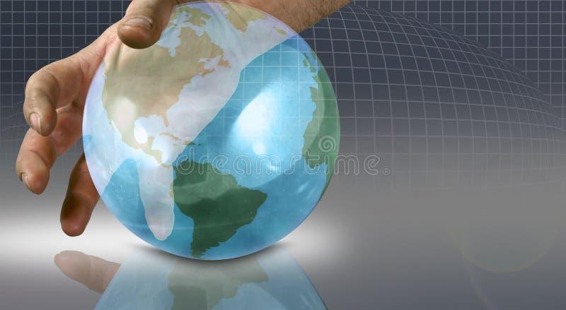 hands den din världen stock illustrationer