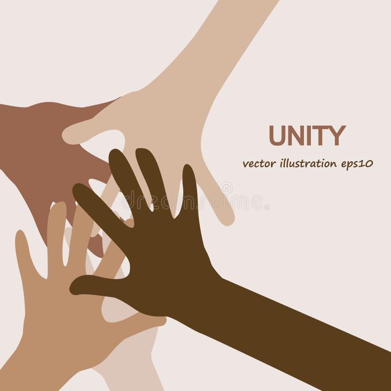 Hands diverse unity stock illustration
