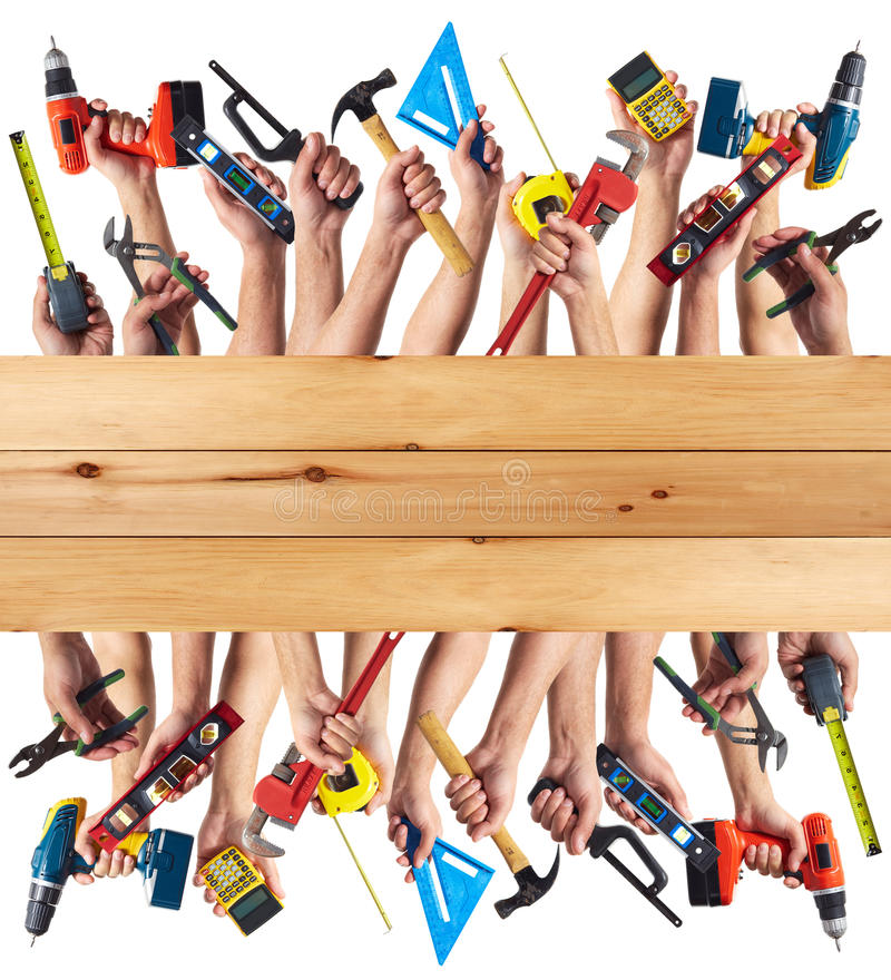 Download Hands with DIY tools. stock photo. Image of adjustable - 35582026