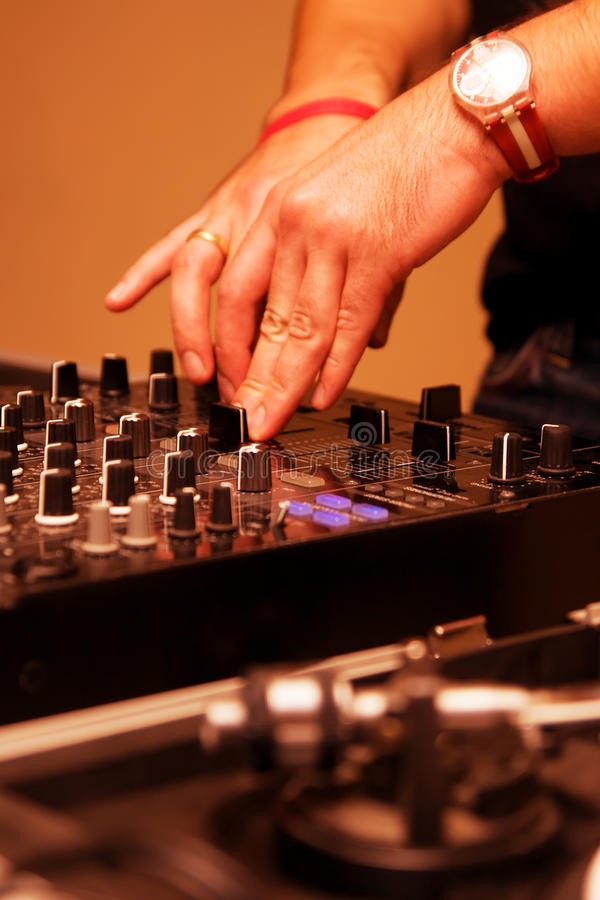 Download Hands Of A Dj Playing Music Stock Photo - Image: 26476692