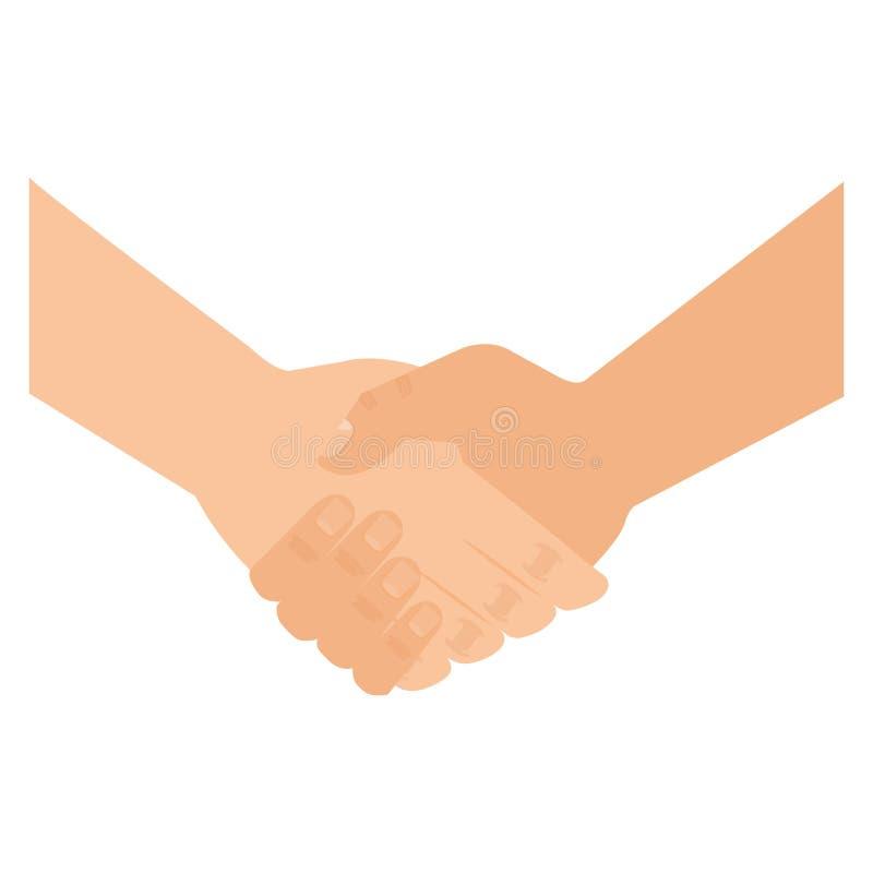 Hands done deal icon. Vector illustration design royalty free illustration