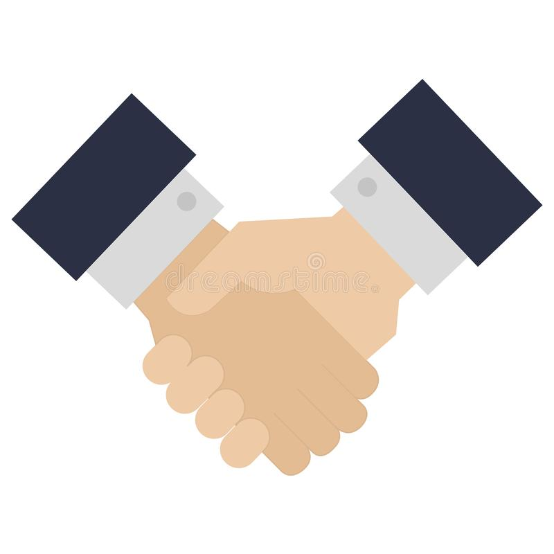 Hands done deal icon. Vector illustration design stock illustration