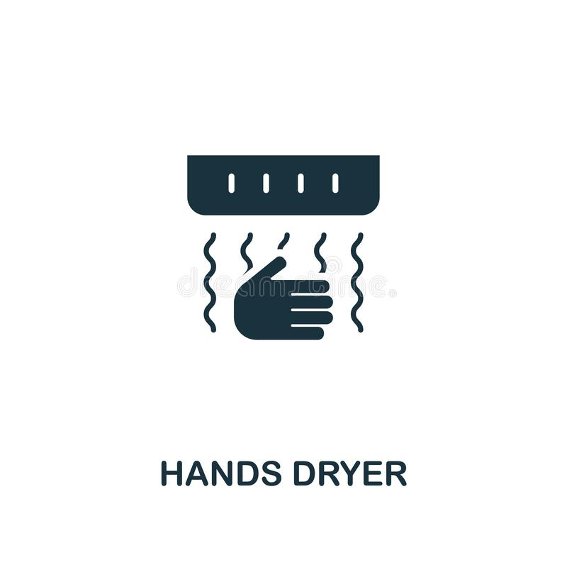 Hands Dryer icon. Premium style design from hygiene icons collection. Pixel perfect Hands Dryer icon for web design royalty free illustration