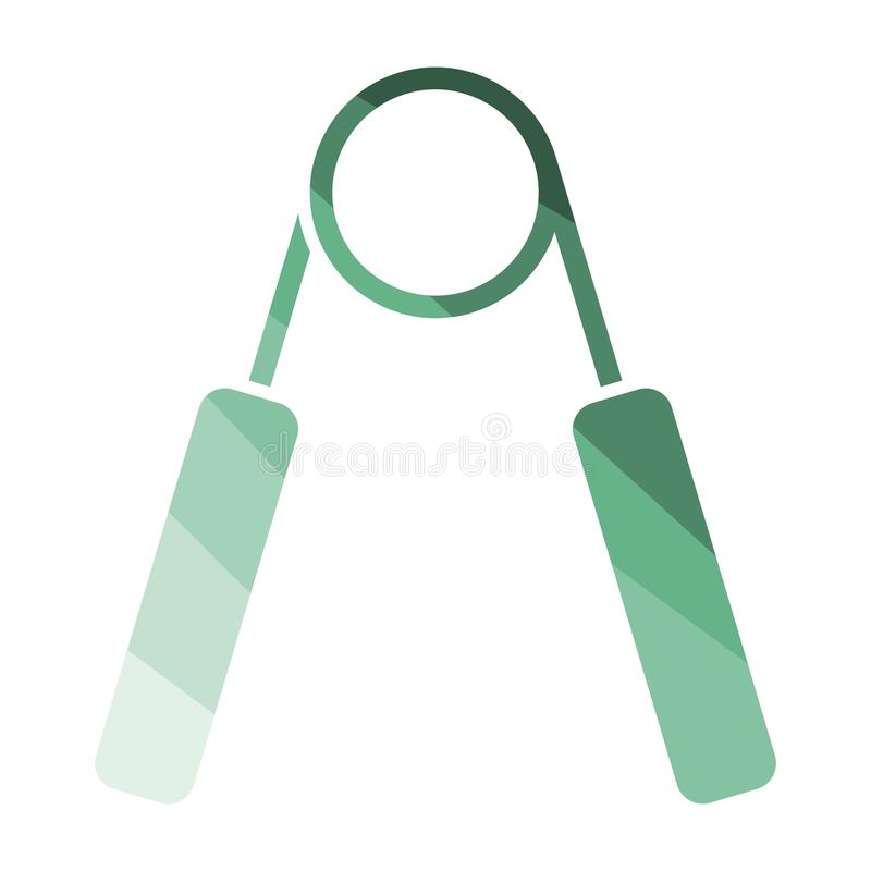 Hands expander icon. Flat color design. Vector illustration royalty free illustration