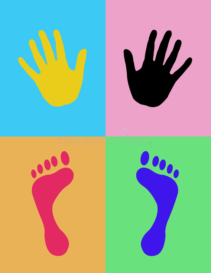 Download Hands and feet stock illustration. Image of right, feet - 5460938