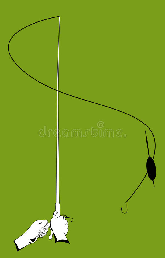 Download Hands with a fishing rod stock vector. Illustration of fisherman - 36404853