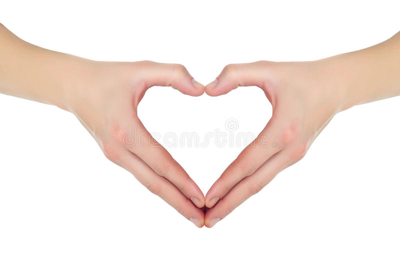 Hands in the form of heart royalty free stock images