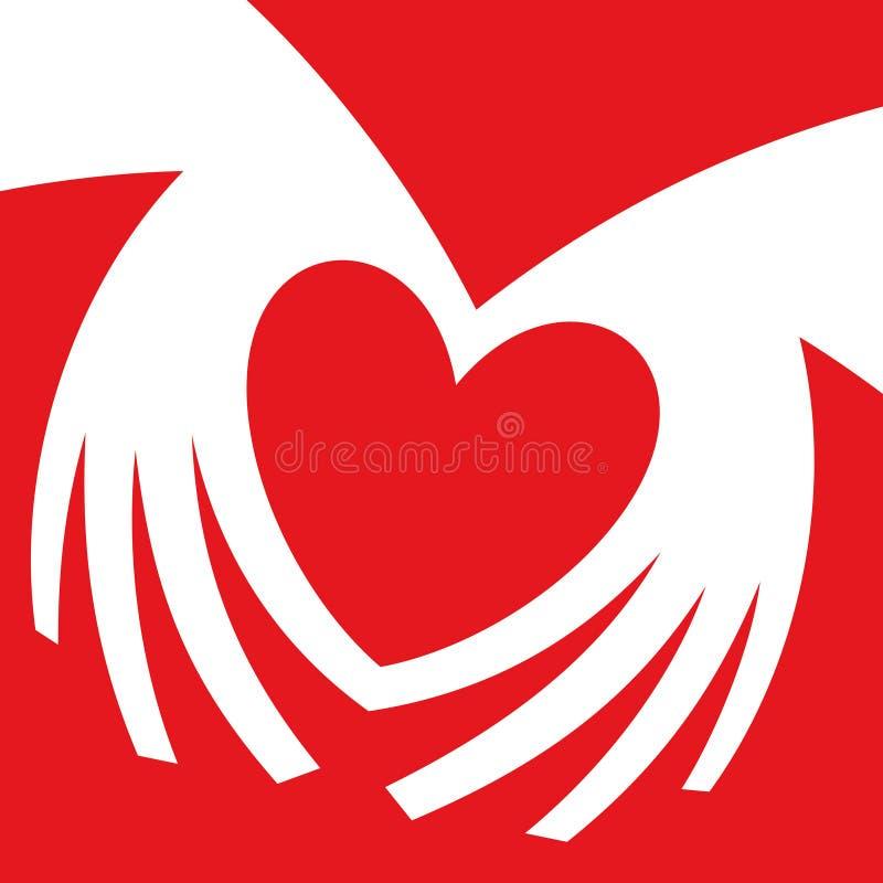 hands formad hjärta Handhjärtagest royaltyfri illustrationer