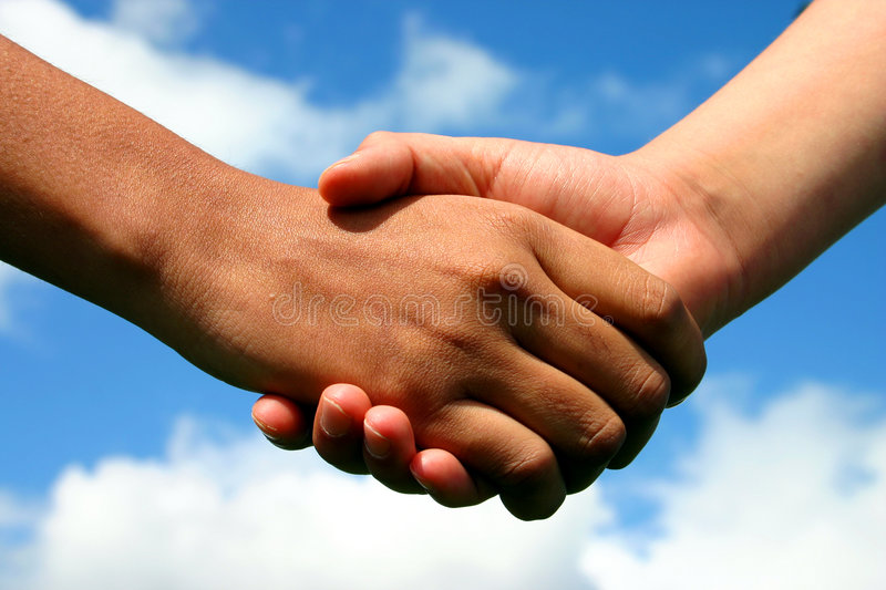 Hands of friendship royalty free stock photos