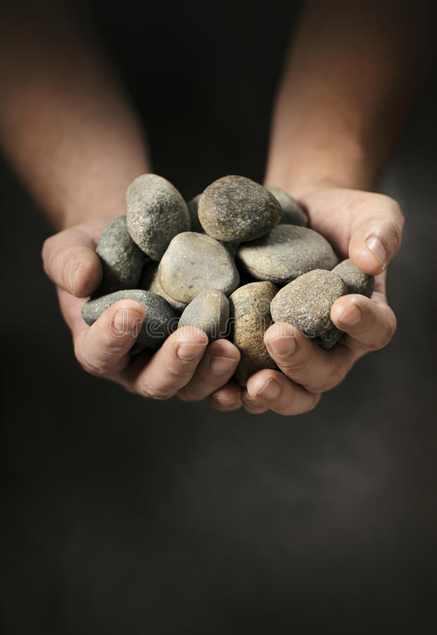 Free Hands Full Of Rocks Stock Images - 24916004