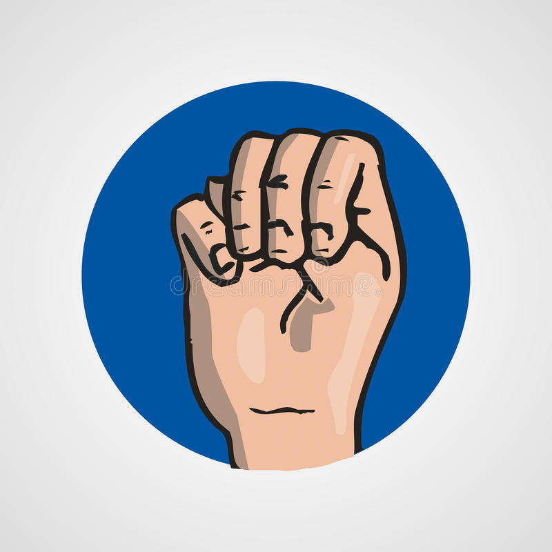 Hands gesture or finger alphabet spelling. Illustration vector illustration