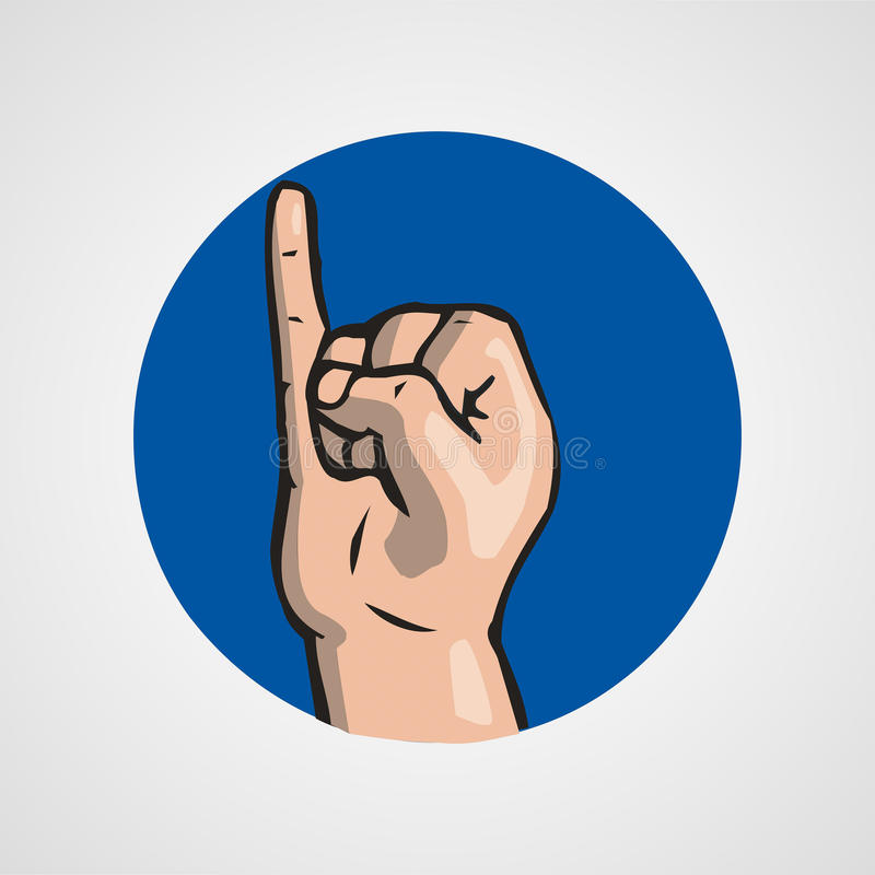Hands gesture or finger alphabet spelling. Illustration royalty free illustration