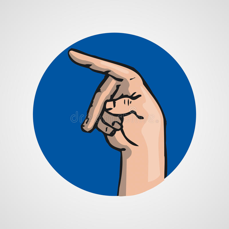 Hands gesture or finger alphabet spelling. Illustration stock illustration