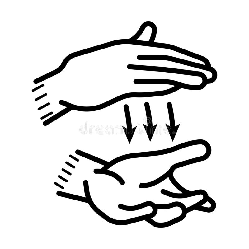 Hands gesture or finger alphabet spelling vector. Icon royalty free illustration