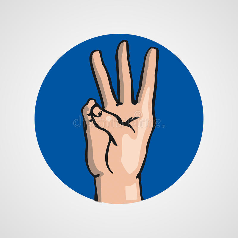Hands gesture or finger alphabet spelling. Vector illustration royalty free illustration