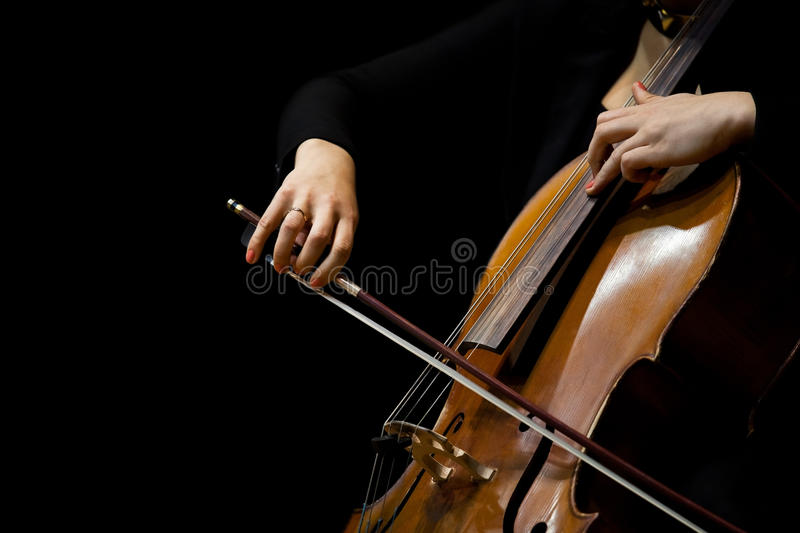 Hands Girl Playing The Cello Stock Photo - Image of ...