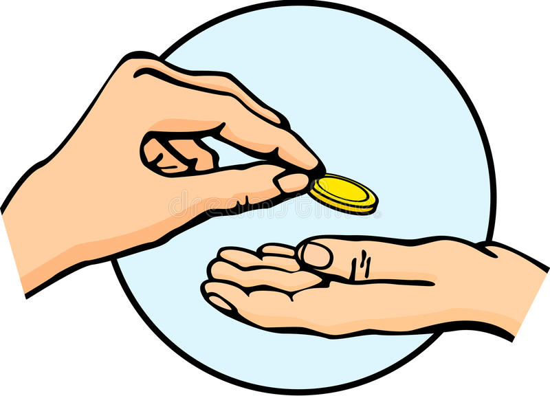 Download Hands Giving And Receiving Money Stock Vector - Image: 20972522
