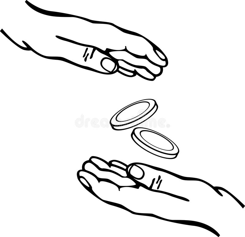 Download Hands Giving And Receiving Money Vector Stock Vector - Image: 7636412