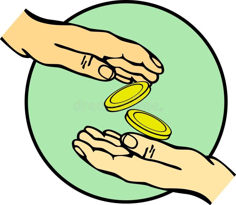 Download Hands Giving And Receiving Money Vector Stock Vector - Image: 7636422