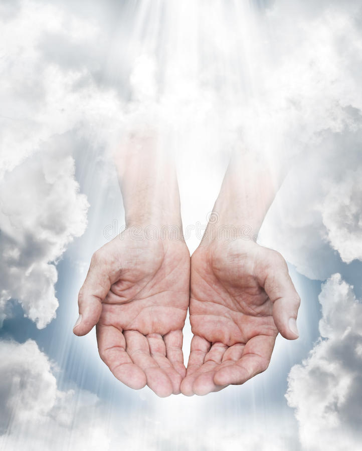 Hands of God royalty free stock photos