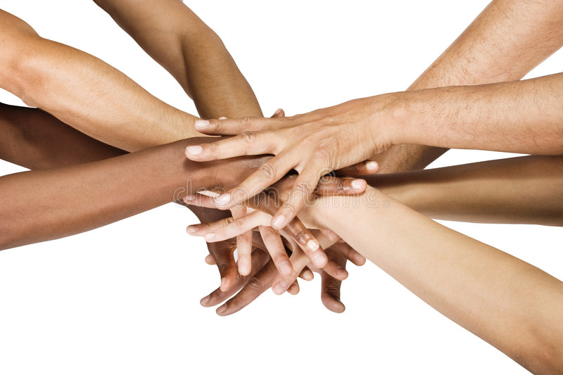 Hands group stock image